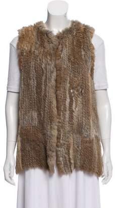 Fur Knitted Rabbit Fur Vest