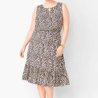 Talbots Leopard-Print Midi Dress