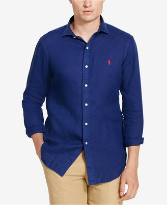 Polo Ralph Lauren Men's Linen Sport Shirt $98.50 thestylecure.com