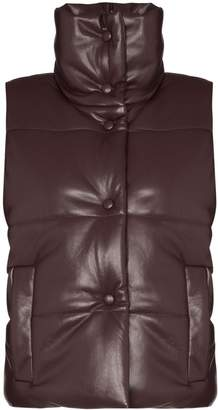Nanushka Morillo faux leather puffa gilet