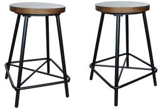 "Carolina Chair & Table 24"" Inez Counter Height Stool Set of 2 Black - Carolina Chair and Table"