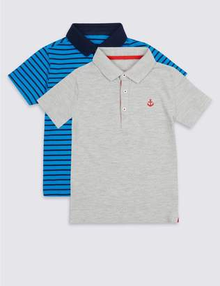 Marks and Spencer 2 Pack Polo Shirts (3 Months - 7 Years)