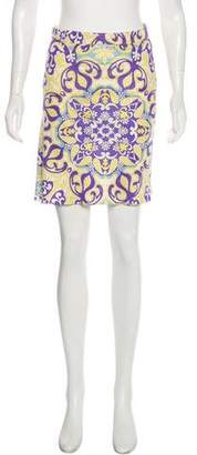 Blumarine Silk Mini Skirt