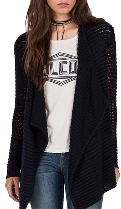 Women's Volcom Hold On Tight Open Cardigan $69.50 thestylecure.com