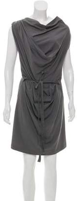 Brunello Cucinelli Draped Mini Dress