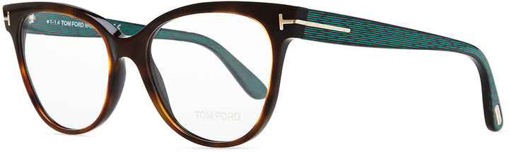 Tom Ford Rectangle Optical Fashion Glasses, Havana