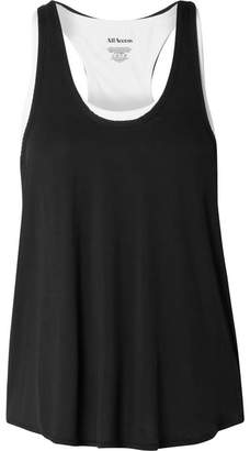 All Access - Duet Layered Stretch-modal Tank - Black