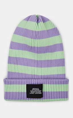 Marc Jacobs Women's Striped Cotton Beanie - Purple Pat