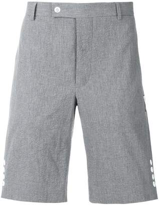 Moncler side button tailored shorts