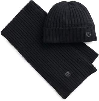 Chaps Men's Ribbed Knit Hat & Scarf Set