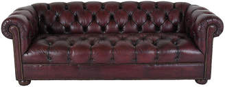 One Kings Lane Vintage Chesterfield-Style Tufted Leather Sofa - Castle Antiques & Design