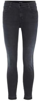 J Brand Capri mid-rise cropped jeans