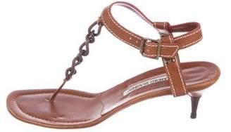 Manolo Blahnik Chain-Link Thong Sandals