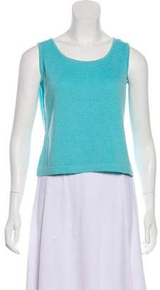 St. John Sleeveless Bateau Neck Top