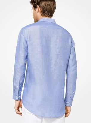 Michael Kors Tailored/Classic-Fit Linen Shirt