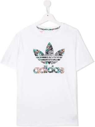 adidas Kids zoo Trefoil logo T-shirt