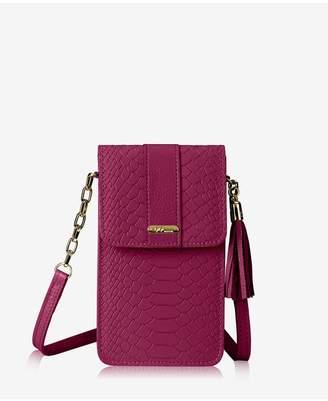 GiGi New York Penny Phone Crossbody Bag In Mulberry Embossed Python