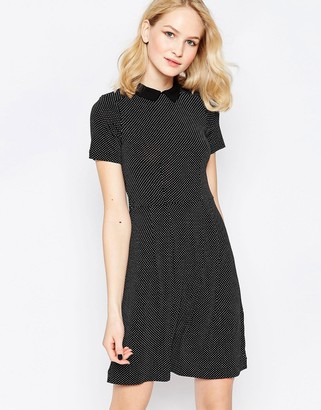 French Connection Party Polka Collared Dress With White Collar $68 thestylecure.com