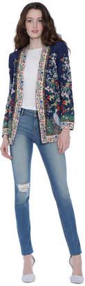 Alice + Olivia Jenice Embroidered Long Blazer