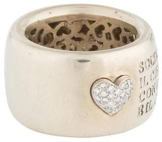 Pasquale Bruni 18K Diamond Heart Script Ring white 18K Diamond Heart Script Ring