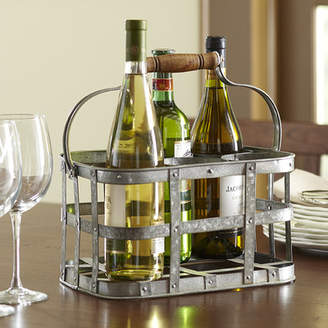 Birch Lane Galvanized 6 Bottle Tabletop Wine Rack