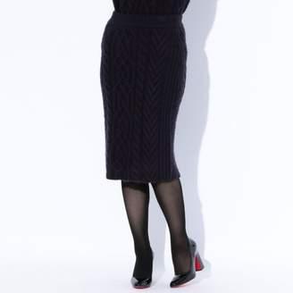 GUILD PRIME (ギルド プライム) - ギルドプライム 【GUILD PRIME】WOMENS ケーブルタイトスカート