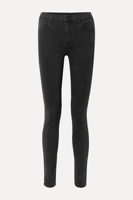 J Brand Maria High-rise Skinny Jeans - Black