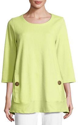 Neon Buddha Newport Lightweight Ribbed Top, Plus Size $110 thestylecure.com