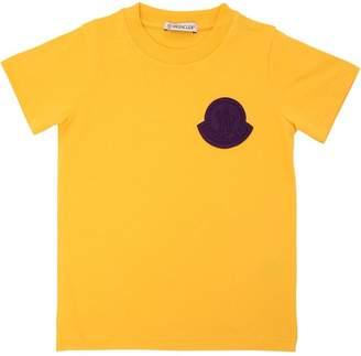 Moncler Logo Patch Cotton Jersey T-Shirt