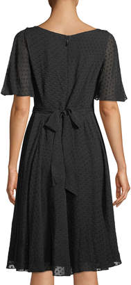 Kate Spade Spice Things Up Clipped Chiffon A-Line Dress