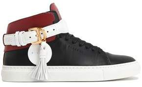 Buscemi Tasseled Color-Block Leather High-Top Sneakers