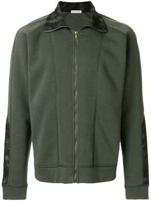 Tomas Maier camo check fleece jacket
