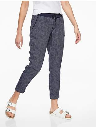 Athleta Stripe Bali Linen Ankle Pant