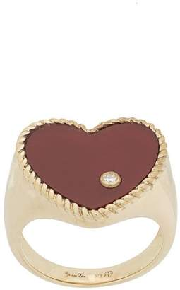 Leon Yvonne 9kt gold and diamond Heart ring