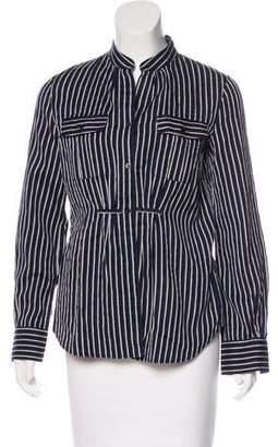 Armani Collezioni Striped Button-Up Top