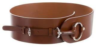 Gucci Horsebit Leather Waist Belt