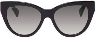 Gucci Black Soft Cat Eye Sunglasses