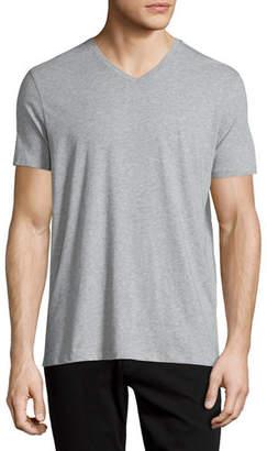 Vince Short-Sleeve V-Neck Pima Jersey T-Shirt