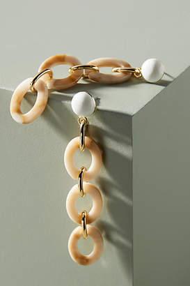 Anthropologie Marcia Resin Chain Drop Earrings
