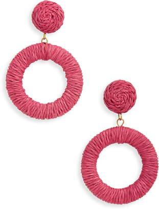 Panacea Wrapped Circle Drop Earrings