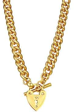 Gas Bijoux Women's 24K Yellow Goldplated Heart Lock & Toggle Necklace