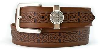 Celtic Lee River 40mm Genuine Leather Belt with a Design and a Loop