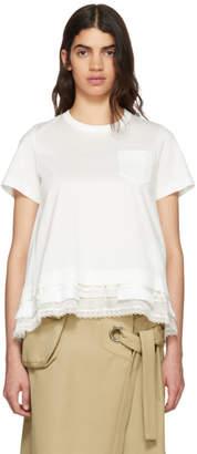 Sacai White Trim T-Shirt