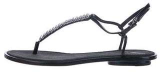 Brian Atwood Patent Leather Embellished Sandals