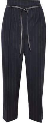 Brunello Cucinelli Pinstriped Wool-Blend Tapered Pants
