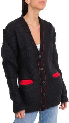 Maison Margiela Mohair Cardigan With Contrast Pockets