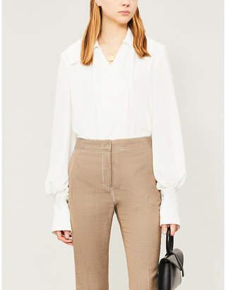 3b51bfa8c7edd1 Emilia Wickstead Raffi puffed-sleeve crepe shirt