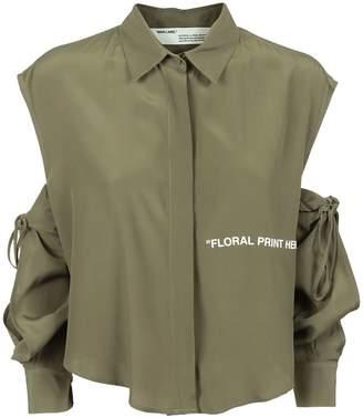 Off-White Shoulder Sleeve Cut Shirt