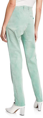 Tomas Maier Slim-Leg Pants, Green