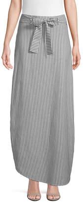 Armani Exchange Striped Long Skirt